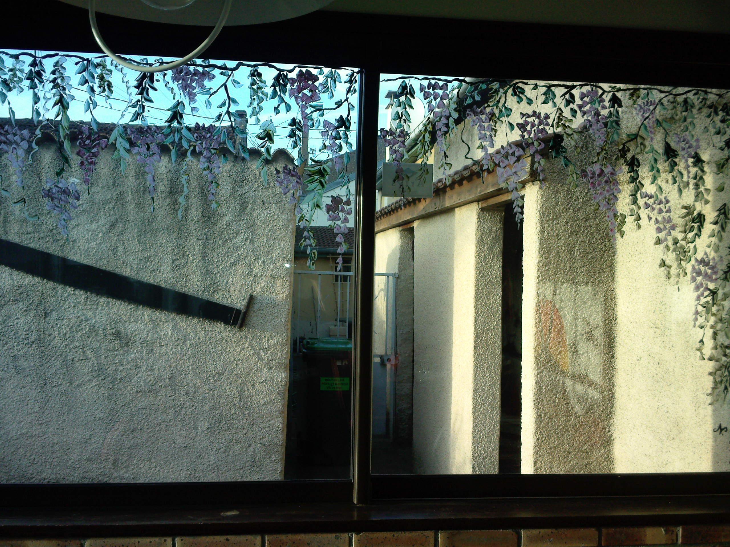 Mes fresques murales - Enlever peinture sur vitre ...